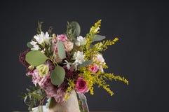 Mehrfarbenblumenblumenstrauß Lizenzfreies Stockfoto