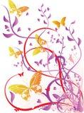 Mehrfarbenblumendesignkunstwerk Lizenzfreies Stockbild