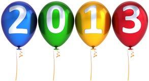 Mehrfarbendekoration der neuen Party mit 2013 Jahrballonen Lizenzfreie Stockbilder