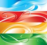 Mehrfarbenflourishhintergrund Stockbilder