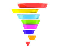 Mehrfarbengeschäft Infographic-Pyramide Stockfoto