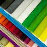 Mehrfarbengewebeproben lizenzfreies stockfoto