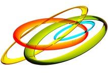 Mehrfarbenglasringe Stockbild