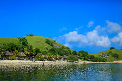 Bungalowe auf der Insel Seraya Lizenzfreies Stockbild