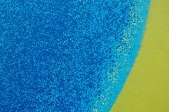 Mehrfarbenhintergrund, Blau, Gelb, körnig Lizenzfreie Stockfotografie