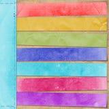 Mehrfarbenkarte für Reklameanzeige lizenzfreie abbildung
