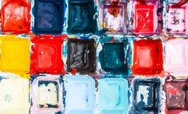 Mehrfarbenkinderhelle unordentliche Farbe lizenzfreies stockbild