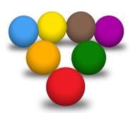 Mehrfarbenkugeln stock abbildung