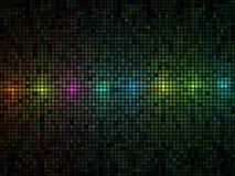 Mehrfarbenleuchtefliesehintergrund stock abbildung