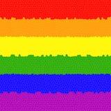Mehrfarbenmarkierungsfahne Lizenzfreie Stockfotos