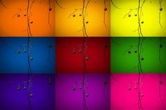Mehrfarbenniederlassungszusammenfassungsbaum-Ballkunst stockfotos