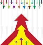 Mehrfarbenpfeile vektor abbildung