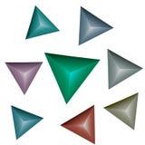 Mehrfarbenpyramiden 3D Stockbilder
