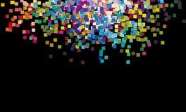 Mehrfarbenregenbogenquadrate vektor abbildung