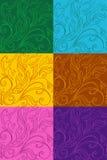 Mehrfarbensatz Muster mit Zeichnungen Stockfotografie