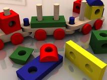 Mehrfarbenspielwaren Stockfoto
