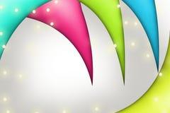 Mehrfarbenwellen, abstrakter Hintergrund Lizenzfreies Stockfoto