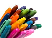 Mehrfarbig weich-spitzen Sie Feder. Stockbilder