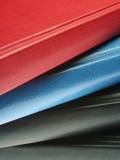 Mehrfarbige Abdeckungen Stockfoto