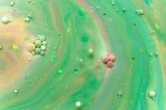 Mehrfarbige abstrakte Blasen Stockbild