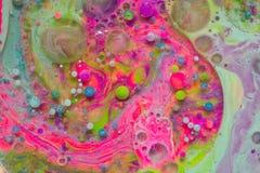 Mehrfarbige abstrakte Blasen Stockbilder