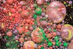 Mehrfarbige abstrakte Blasen Lizenzfreies Stockbild