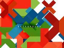 Mehrfarbige abstrakte geometrische Formen, Geometriehintergrund für Netzfahne Stockfotos