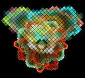 Mehrfarbige abstrakte Zahlen Stockfotos