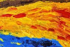 Mehrfarbige Abstraktion durch Ölfarben Lizenzfreies Stockfoto