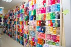 Mehrfarbige Acrylthreads Stockfotografie