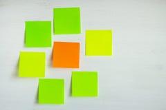 Mehrfarbige Aufkleber auf einem hellen Hintergrund Lizenzfreies Stockbild