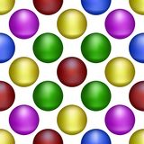 Mehrfarbige Bälle bilden den Hintergrund stock abbildung