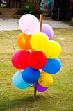 Mehrfarbige Ballone. Stockbild