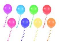 Mehrfarbige Ballone Stockbild