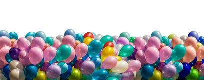 Mehrfarbige Ballone lokalisiert auf Weiß Lizenzfreie Stockbilder