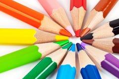 Mehrfarbige Bleistifte Stockbilder