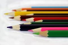 Mehrfarbige Bleistifte Stockfoto