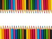 Mehrfarbige Bleistifte getrennt auf weißem Hintergrund Stockfotografie