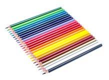 Mehrfarbige Bleistifte lokalisiert auf Weiß Lizenzfreie Stockbilder