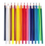 Mehrfarbige Bleistifte lokalisiert auf Weiß Lizenzfreies Stockbild
