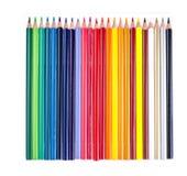 Mehrfarbige Bleistifte lokalisiert auf Weiß Stockbilder