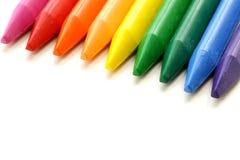 Mehrfarbige Bleistiftzeichenstifte Stockfotografie
