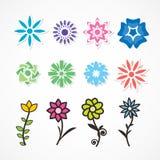 Mehrfarbige Blumen Stockfotos