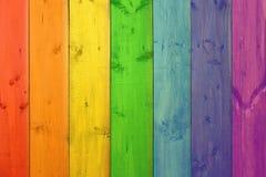 Mehrfarbige Bretter in den colores des Spektrums Stockfotografie