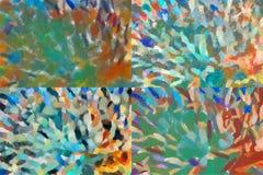Mehrfarbige chaotische Platte Lizenzfreie Stockfotografie