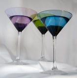 Mehrfarbige Cocktails Stockfoto