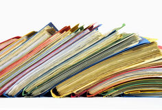 Mehrfarbige Dateien und Faltblätter Lizenzfreies Stockbild