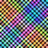 Mehrfarbige Diagonale blockiert Musterillustration Stockfotografie