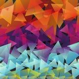 Mehrfarbige Dreiecke des Musters Stockfotos