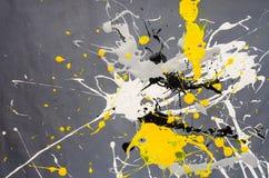 Mehrfarbige Farbfleck- Verunstaltung auf dem grauen Hintergrund stockfotografie